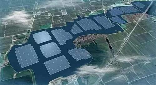 全球最大的漂浮光伏电站在安徽一个煤矿区完工并网