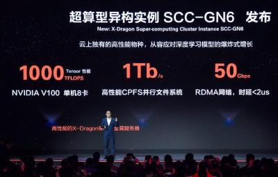 阿里云发布首个公共云神龙异构超算集群SCC-GN6服务器