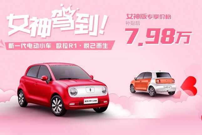中国首款女性专属车欧拉R1女神版正式发布 首推珊瑚橙和草莓红两款专属配色