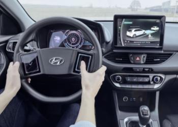 现代公布新一代汽车座舱原型图:方向盘采取触摸屏设计