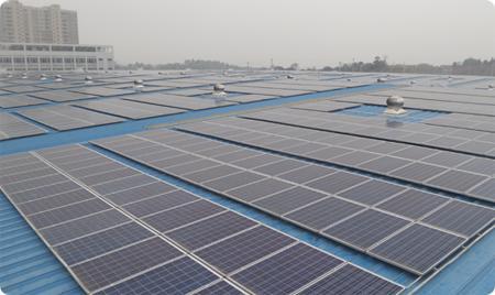 屋顶光伏发电、企业废水利用发现实现节能、减排双赢