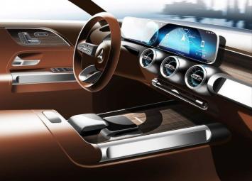 奔驰GLB概念车预告图公布:仪表盘内嵌一块数字娱乐信息显示屏幕