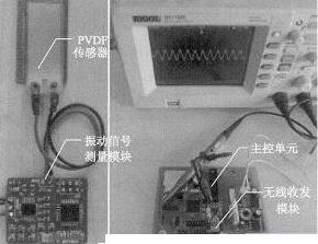 PVDF传感器和WSN的振动信号测量系统