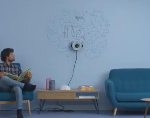 最牛墙面机器人,10分钟内画一幅画,墙面就像屏幕一样