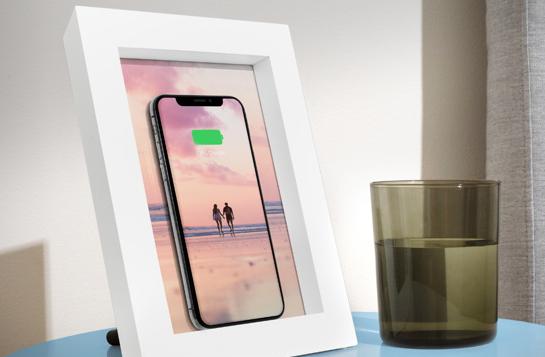 相框+无线充电 最文艺的充电器