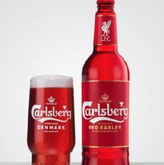 嘉士伯红大麦为利物浦球迷推出,该红啤酒为酿造的鲜红色皮尔森啤酒