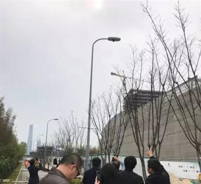 """明朔科技石墨烯""""风语""""系列智慧灯头落地上海杨浦滨江"""