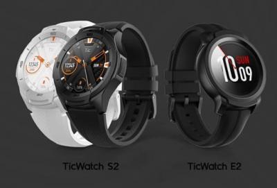 出门问问发布TicWatch S2和TicWatch E2,达到5ATM防水等级