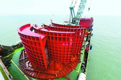 我国北方最大海上风电项目并网发电