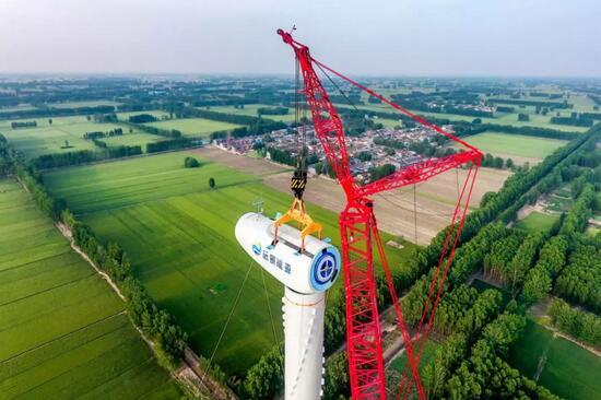 """新挑战!三一SCC12000TM一号车挑战140米""""最大重量""""风机首吊成功"""