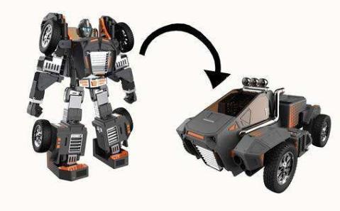 中国制造的机器人在国外火了,能变形能跳舞,外型酷似变形金刚