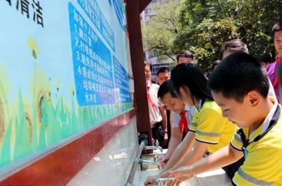 龙头公益    九牧更换桂林29所学校龙头并捐赠洗手盆等卫生洁具
