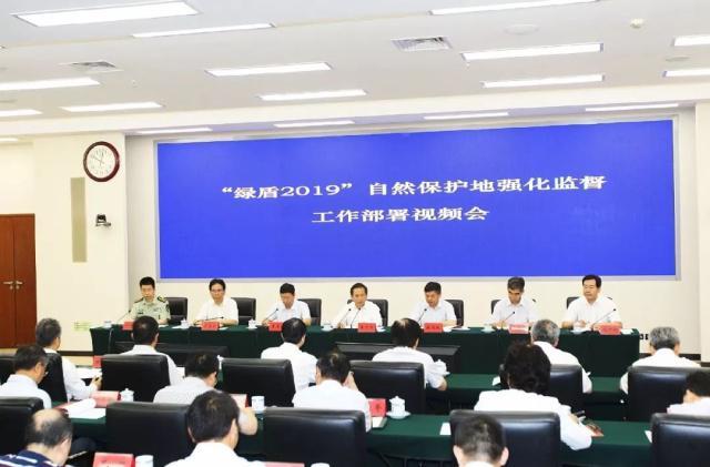 """六部联合召开""""绿盾2019""""自然保护地强化监督工作部署视频会议"""