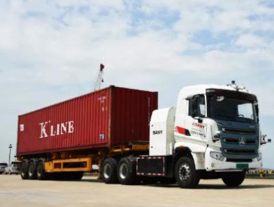 三一国际无人电动集卡车完成首测 进入港口无人驾驶运输