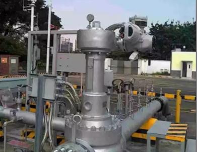 全球首创智能化伸缩式无摩擦球阀在中山输油站投用成功
