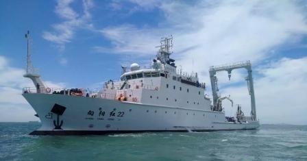 """我国首艘大型浮标作业船3000吨级浮标作业船""""向阳红22完成试航"""