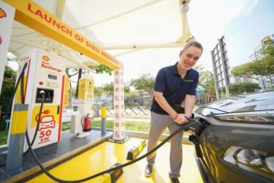 石油巨头壳牌在新加坡推出电动汽车充电服务