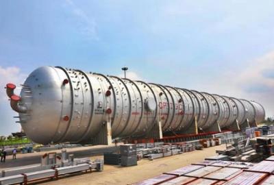 全球最大常压塔从张家港启运 助力非洲最大炼油厂