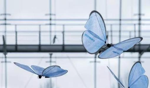 仿生无人机外形酷似蝴蝶 易于伪装结构简单