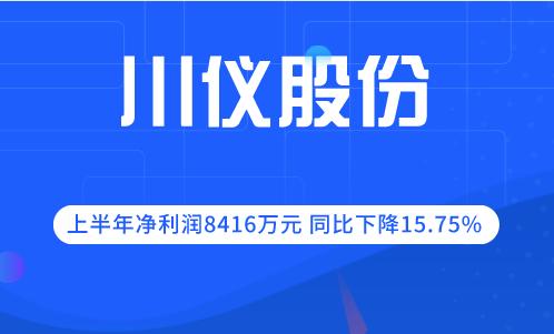 川仪股份2019年上半年净利润8416万元 同比下降15.75%