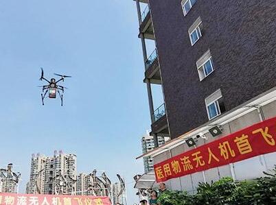 医用物流无人机在南华附二医院首飞