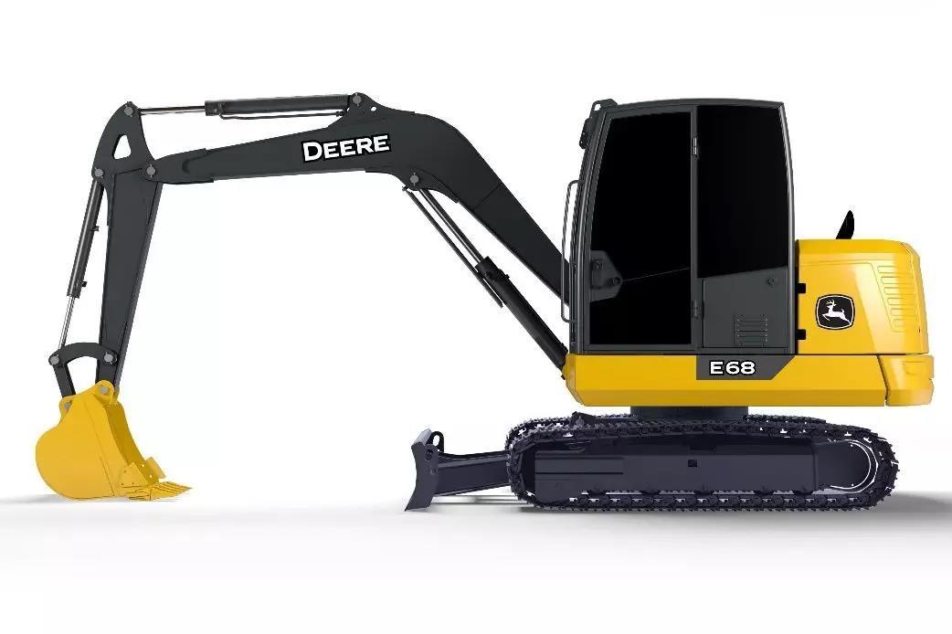 继E18 ZS和E60后,约翰迪尔公司在中国推出E68小型挖掘机