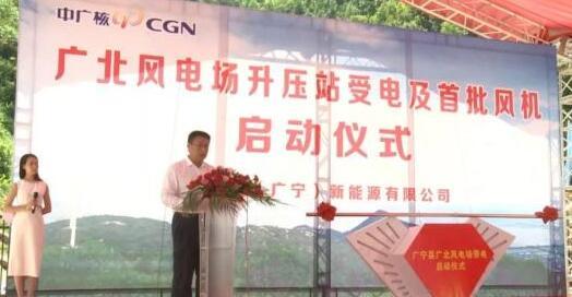 中广核广北风电场首批风机并网投运 总投资4.3亿