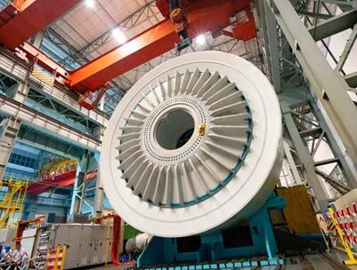 国内首台单机容量最大10MW海上风电机组正式下线