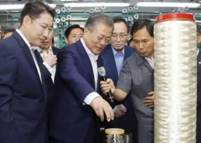 氨纶巨头又有大动作!这款纤维的投产惊动了韩国总统文在寅