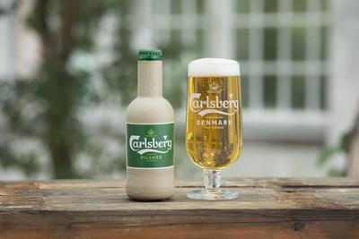 纸制啤酒瓶要来了?嘉士伯揭晓绿色纤维瓶最新研究原型