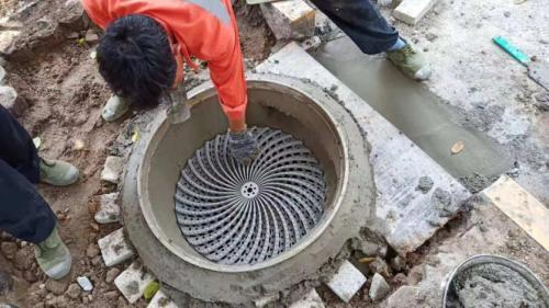 新型立体球墨铸铁井盖!采用涡轮式设计可改善城市排涝能力