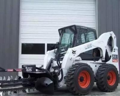 山猫滑移装载机搭载连续开沟器 效率高过小挖数倍