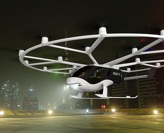 飞行的出租车来啦,Volocopter在新加坡完成飞行汽车载人测试