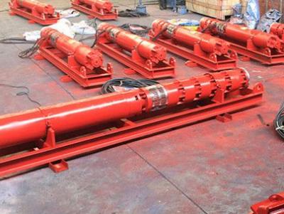 天津水温125度扬程450米耐高温温泉井用热水泵 流量200立方每小时