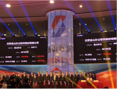 北京金山办公软件股份有限公司正式挂牌科创板,市值超600亿