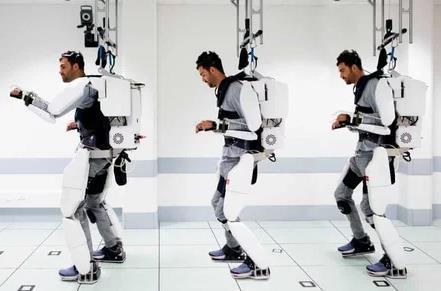 法国研发出神经假肢机器人服装 可以让瘫痪病人站起行走