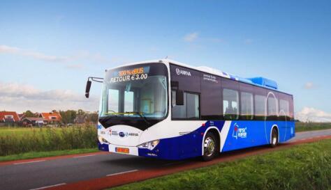比亚迪斩获欧洲最大纯电动大巴订单 将于2020年底投入运营