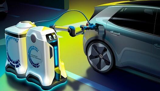 大众电动汽车充电机器人:你随便停,我都能充