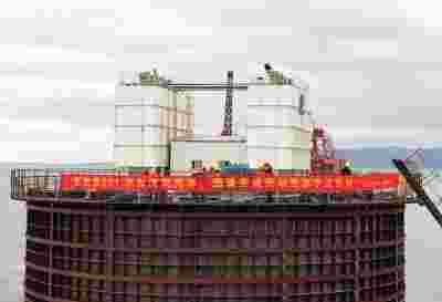 国内首台10MW海上风机完成基础浇筑 贝雷架式施工大大缩短工期