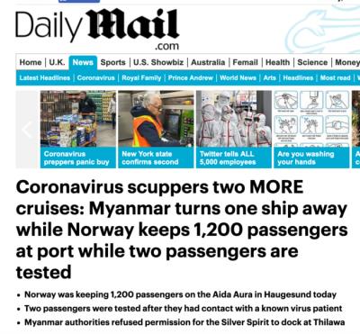德国遭隔离邮轮检测结果出炉:呈阴性 将离开海于格松