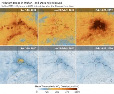 中国空气中二氧化氮含量显著下降:一定程度上与疫情相关
