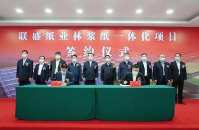 联盛纸业220亿林浆纸一体化项目落户福建漳州,巩固区域地位