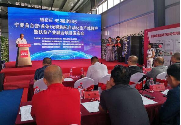 寧夏首條無堿枸杞自動化生產線投產,促進產業鏈快速升級