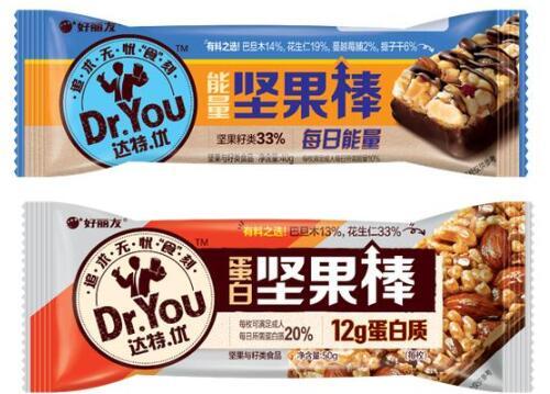 好麗友首款堅果棒產品上市,推出達特優搶占高端零食市場