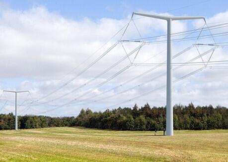 英國國網為欣克利角C核電站首個T型塔2021年7月建成