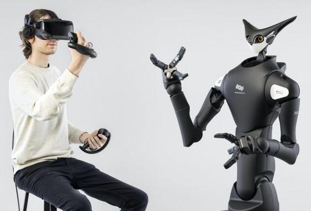 远程遥控机器人超市:提供机器人视线的VR耳机进行实时监控