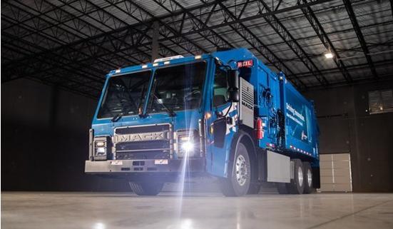 Mack Trucks公司计划在2021年生产之前交付8级电动垃圾车