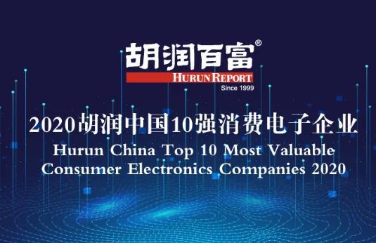 2020胡润中国10强消费电子企业首发:华为最值钱
