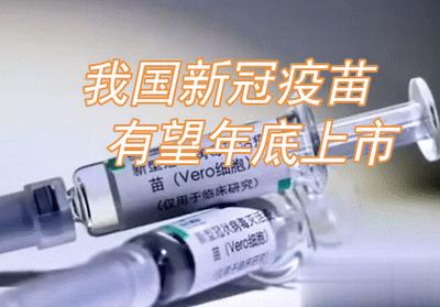 我国新冠疫苗年底可能投入市场 全民接种还有一段时间
