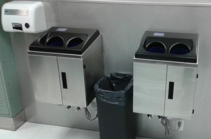 自动洗手机:洗手减少75%的水,可在12秒内清除99.9%以上病原体